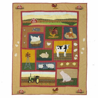 Barnyard Cotton Throw Quilt