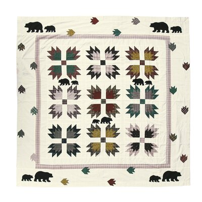 Bears Paw Cotton Shower Curtain