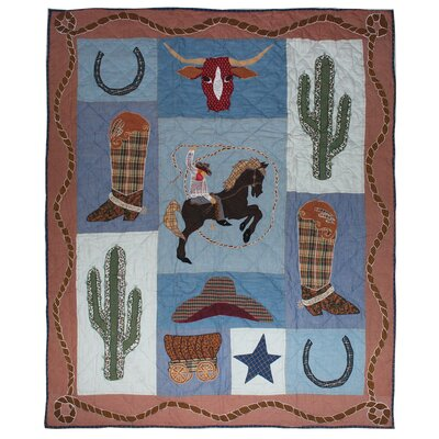 Cowboy Cotton Throw Quilt