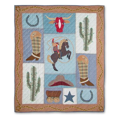 Cowgirl Cotton Throw Quilt