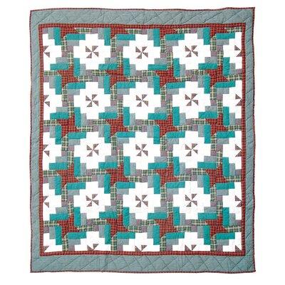 Cranberry Pinwheel Throw Quilt