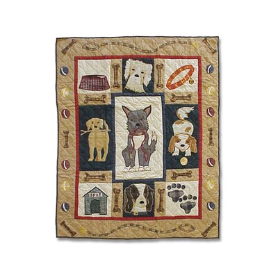 Fido Cotton Throw Quilt