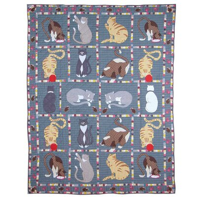 Kitty Cats Cotton Throw Quilt