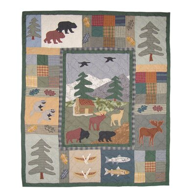 Northwoods Walk Cotton Throw Quilt