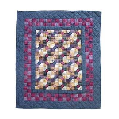 Bow Tie Cotton Throw Quilt