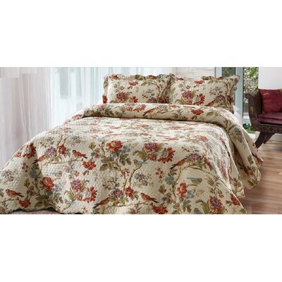 Finch Orchard Quilt Set Size: Queen