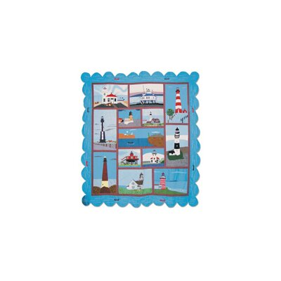 Hand Quilted Cotton Applique Lighthouse Gallery King Quilt