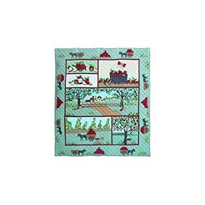 Applique Apple Cart Cotton Quilt