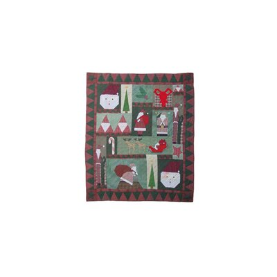 Hand Quilted Cotton Applique Kris Kringle Quilt