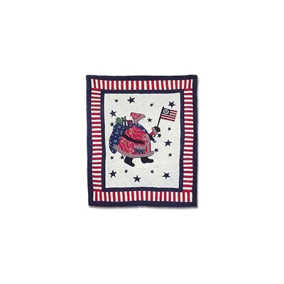 Colonial Santa Cotton Twin Quilt
