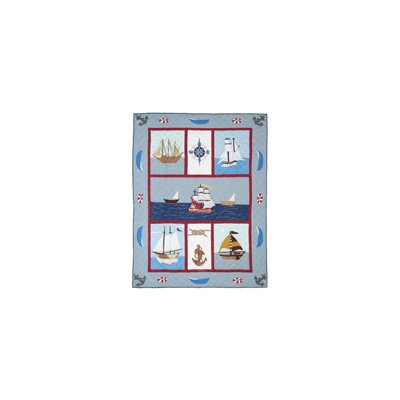 Ships Ahoy Cotton Twin Quilt