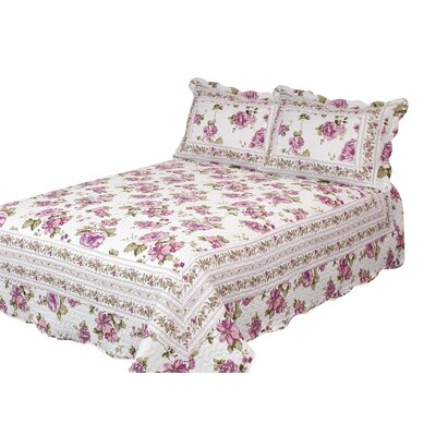 Blooming Peonies Quilt with Pillow Shams