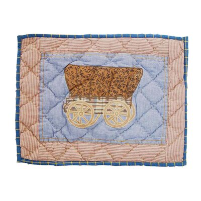 Hand Quilted Applique Cowgirl Cotton Boudoir Pillow
