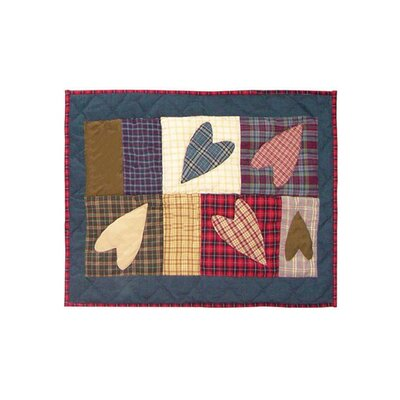 Applique Country Hearts Cotton Boudoir/Breakfast Pillow