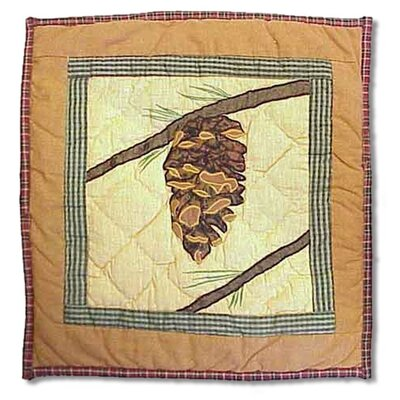 Hand Quilted Applique Cotton Pillow Cover
