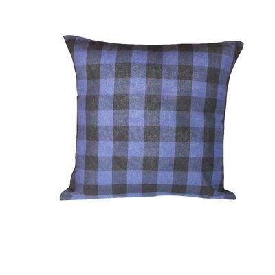 Ryan Check 100% Cotton Throw Pillow Color: Blue