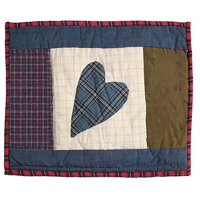 Primitive Hearts Crib Cotton Boudoir/Breakfast Pillow