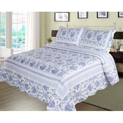 Wisteria Lattice Quilt Set Size: Queen