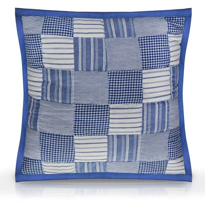 Hand Quilted Patchwork Tumbling Toss Cotton Throw Pillow