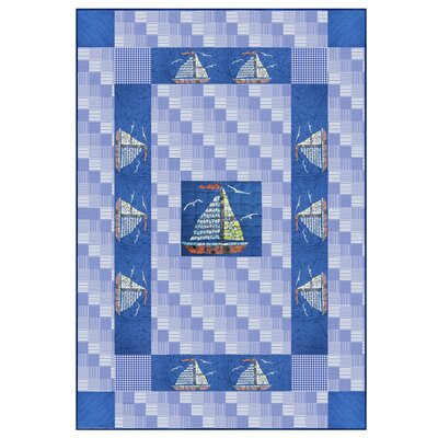 Hand Quilted Cotton Applique Quilt Size: Twin