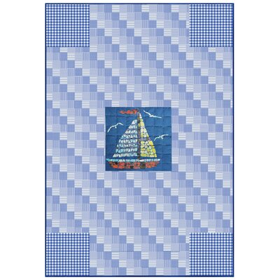 Hand Quilted Applique Cotton Throw