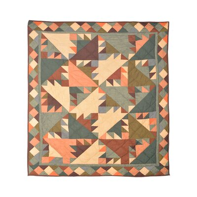 Sun Spirit Cotton Throw Quilt