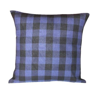 Twill Buffalo Check Fabric Euro Sham Color: Blue