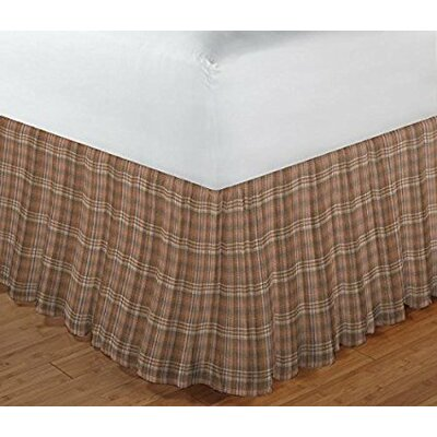 Wilson Checked Fabric Dust Ruffle Bed Skirt