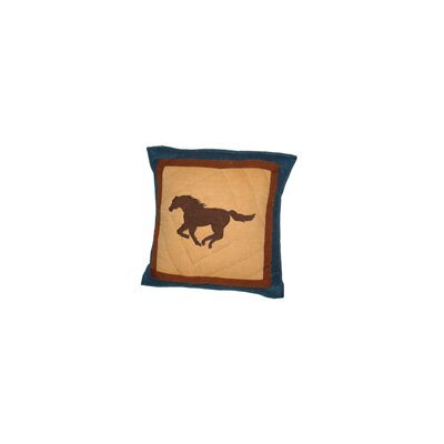Burkhardt Horse Trail-Horse Cotton Throw Pillow