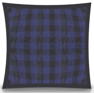 Ryan Check Flanged Cotton Throw Pillow Size: 26 H x 26 W