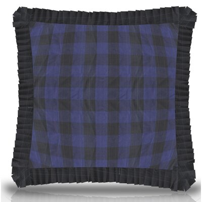 Ryan Check Ruffled Cotton Throw Pillow Size: 16