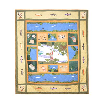 Fly Fishing Quilt Size: Twin