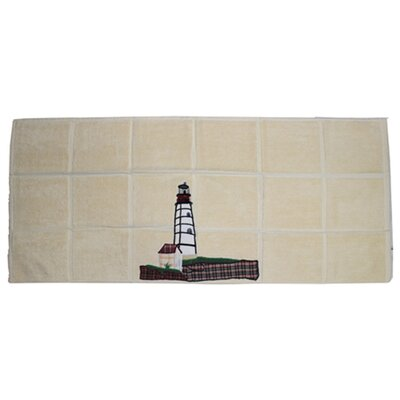 Ocean View Lighthouse by Bay Bath Mat