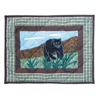 Bear Country Cotton Boudoir/Breakfast Pillow