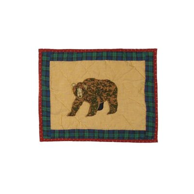 Cabin Bear Crib Cotton Boudoir/Breakfast Pillow