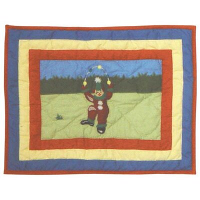 Circus Cotton Boudoir/Breakfast Pillow