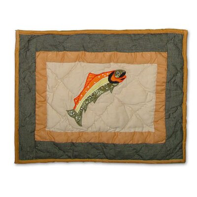 Fly Fishing Cotton Boudoir/Breakfast Pillow