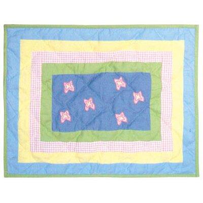 Flower Power Cotton Boudoir/Breakfast Pillow