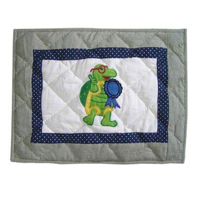 Green Scene Cotton Boudoir/Breakfast Pillow