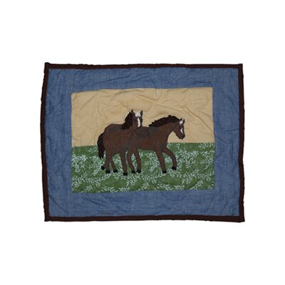 Horse Friends Cotton Boudoir/Breakfast Pillow
