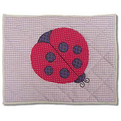 Ladybug Cotton Boudoir/Breakfast Pillow