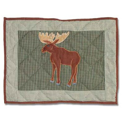 Moose Crib Cotton Boudoir/Breakfast Pillow