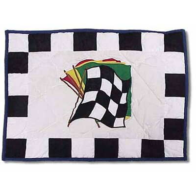 Racecar Crib Cotton Boudoir/Breakfast Pillow