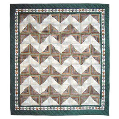 Peasant Log Cabin Duvet Cover Size: Queen