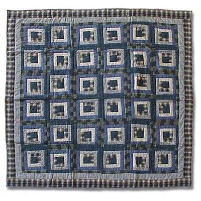 Blue Log Cabin Duvet Cover