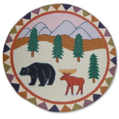 Mountain Whispers 36 Round Area Rug