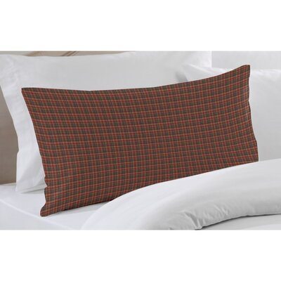 Dark Red and Black Plaid Sham
