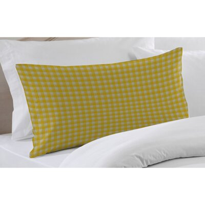 Yellow Pale and White Checks Pillow Sham