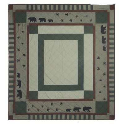 Bear Trail Quilt Size: Queen
