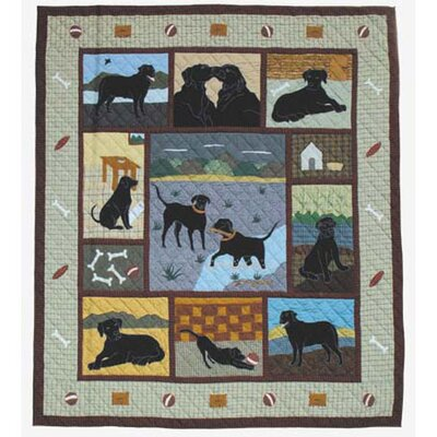 Black Lab Quilt Size: Twin